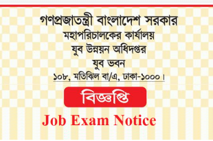 Department Of Youth Development DYD Job Exam Schedule Notice 2018