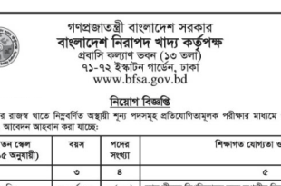 Bangladesh Food Safety Authority BFSA Job Circular 2019