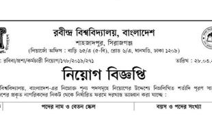 Rabindra University Shahzadpur Job Circular 2019