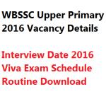 WBSSC Upper Primary TET Interview Date 2018 Call Letter Admit Teacher