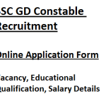 SSC Constable Recruitment 2018 Application Form Online Starting Date Vacancy