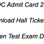 NMDC Maintenance Assistant Admit Card 2018 Exam Date Hall Ticket RELEASED