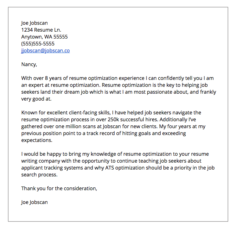 Cover Letter Formats  Jobscan