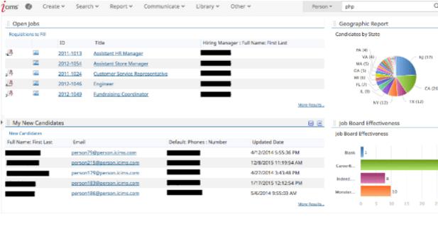 sample application tracking system resume