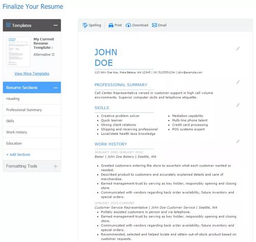 Resume Builders Jobscan