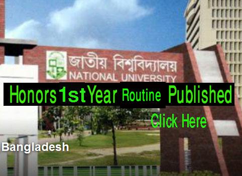 National University Honours 1st Year Exam Routine 2016