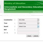 HSC Exam Result 2016 Education Board Bangladesh