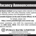 Pubali Bank Jobs Circular 2017 Seiner Junior Cash Officer