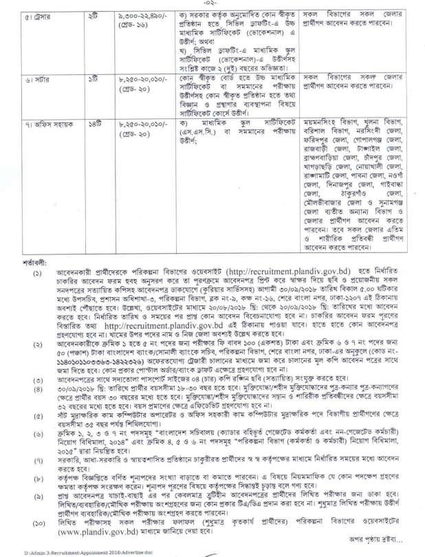 plandiv job circular 2 Planning Division plandiv Jobs Circular 2018 – www.plandiv.gov.bd