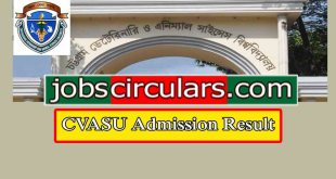 cvasu Chittagong Veterinary and Animal Sciences University Admission Circular 2018-19 | cvasu.ac.bd