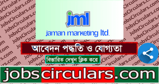 Jaman Marketing Limited Job Circular 2020 1 Jaman Marketing Limited | Job Circular 2020