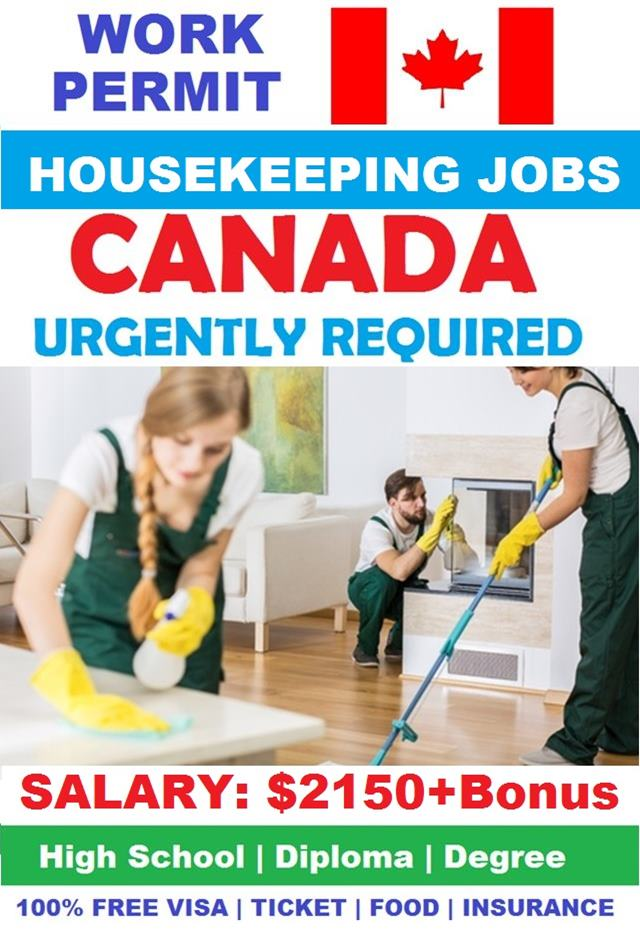 housekeeping jobs in canada with work permit 2020