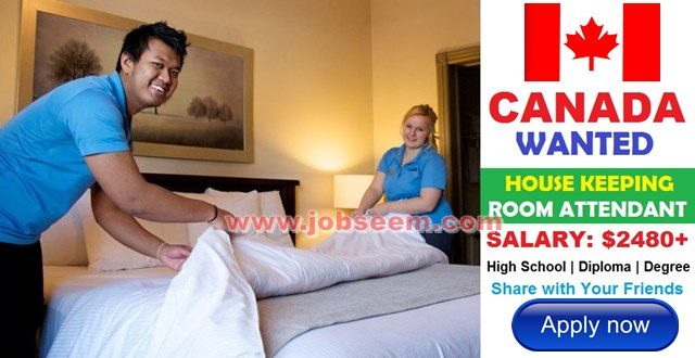 Housekeeping Jobs in CANADA for Foreigners with Salary with Work Permit for Foreign Worker