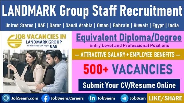 Multiple Job Vacancies at LANDMARK Group LandMark Job Careers