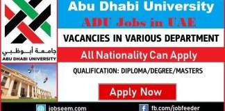 Abu Dhabi University Jobs in UAE Career Recruitment 2018 Hiring Facullty Staffs