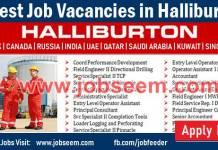 Halliburton Jobs Recruitment for Halliburton Careers USA
