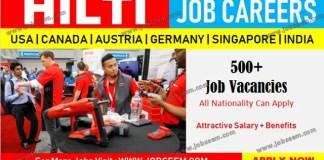Hilti Job Careers Hiring Staffs at HILTI in USA-Canada-Austria-Singapore-Germany-India