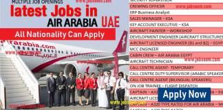 Air Arabia Career Staff Recruitment at Air Arabia UAE
