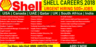 Shell Careers Hiring Multiple Oil and Gas Job Vacancy in USA Canada UAE Qatar South Africa India