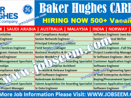 Baker Hughes Careers Recruitment BHGE Jobs New Vacancy Openings
