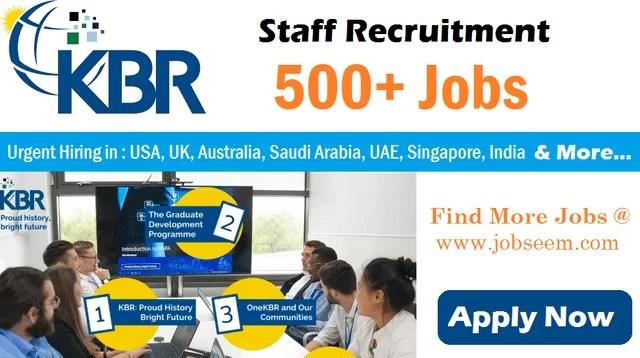KBR Jobs Opening in US Australia Iraq Kuwait UAE Saudi Arabia Overseas Career Recruitment 2020