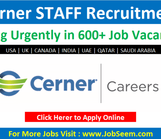 Cerner Careers and Jobs Vacancy Opening 2020 | Recruiting freshers in UK, USA, UAE, CANADA, QATAR, INDIA
