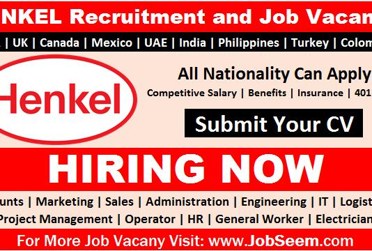 Henkel Careers Job Vacancy Openings in Multiple Locations