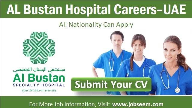Al Bustan Hospital Careers in Abu Dhabi, UAE