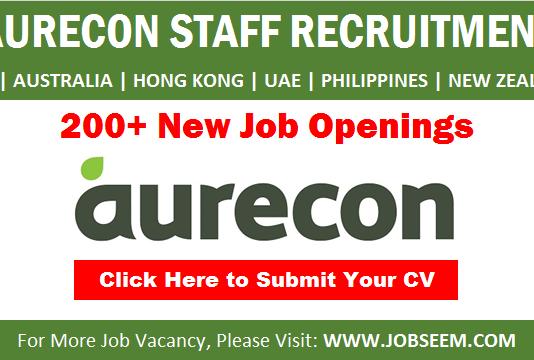 Aurecon Careers and Staff Hiring New Job Vacancy