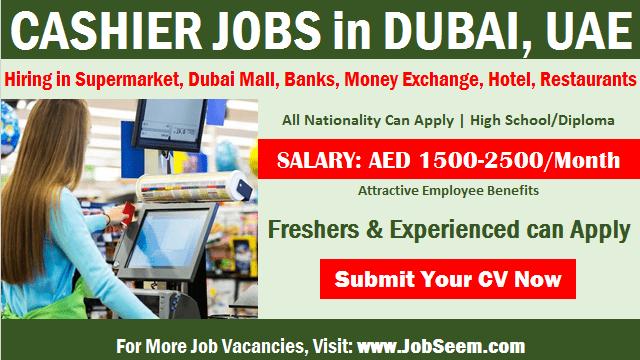 Cashier Jobs in Dubai UAE Supermarket, Dubai Mall, Foreign Exchange, Banks with Salary