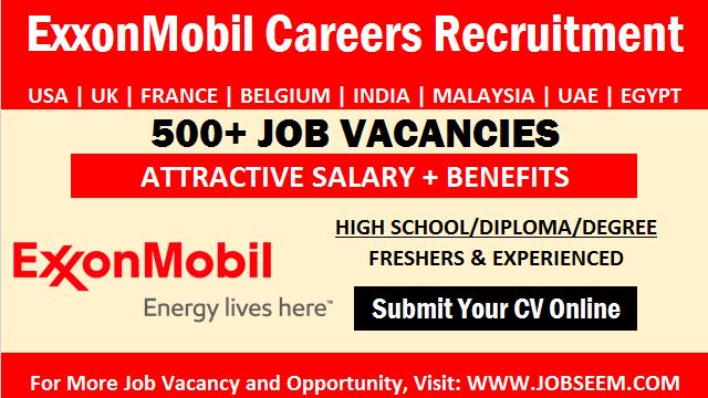 ExxonMobil Careers Urgent Staff Recruitment and Job Vacancy Openings