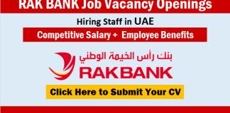 RAK Bank Careers Recruitment UAE Urgent Job Vacancy Openings and Staff Hiring