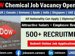 Dow Chemical Careers and Job Vacancy Openings Urgent Staff Hiring for Dow Employment
