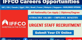IFFCO Careers and Job Vacancy Recruitment Worldwide Openings