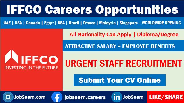 IFFCO Careers and Job Vacancy Recruitment Worldwide Openings