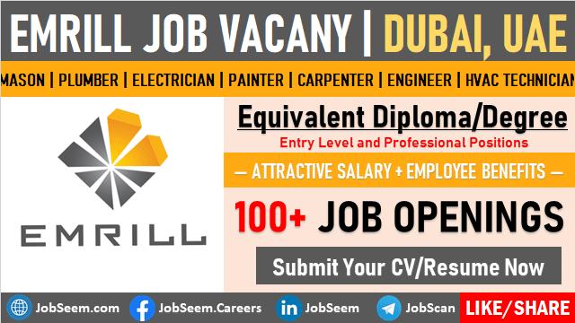 Emrill Careers and Job Vacancies in Dubai, UAE Direct Staff Recruitment