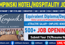Kempinski Careers Hotel Job Vacancies for Freshers Graduates Employment Opportunities
