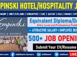 Kempinski Careers Hotel Job Vacancies for Freshers Graduates Employment Opportunities
