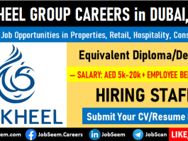 Nakheel Group Careers Recruitment Latest Job Vacancies in Dubai, UAE
