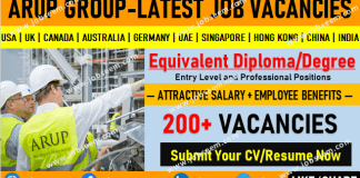 Arup Group Careers Recruitment and Worldwide Job Vacancy Openings