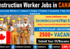 Construction Work in Canada, Helper, Labourer High Demand Jobs for Construction Worker