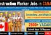 Construction Work in Canada, Helper, Labourer High Demand Jobs for Construction Worker