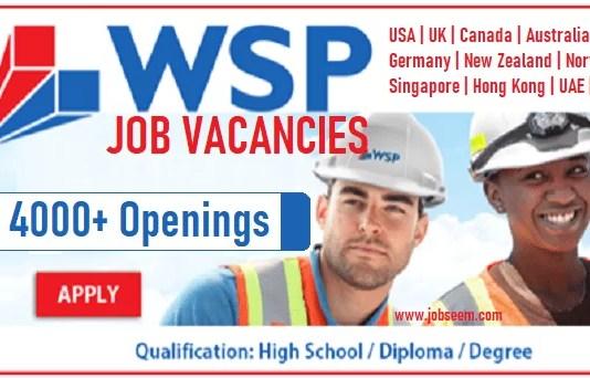 WSP Careers and Job Vacancy Openings Worldwide