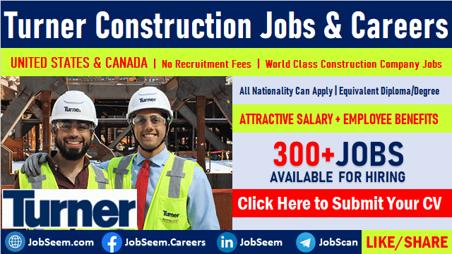 Turner Careers Construction Company Job Vacancies in United States and Canada