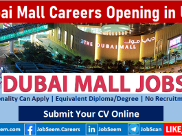 Dubai Mall Careers Recruitment and Vacancy Openings Emaar Group Hiring Staff Urgently
