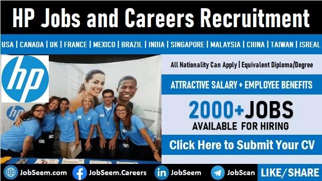HP Careers Hewlett Packard Enterprise Company (HPE) Job Vacancies