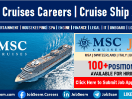 MSC Cruises Careers and Employment Urgent Cruise Ship Job Vacancy Openings and Staff Recruitment