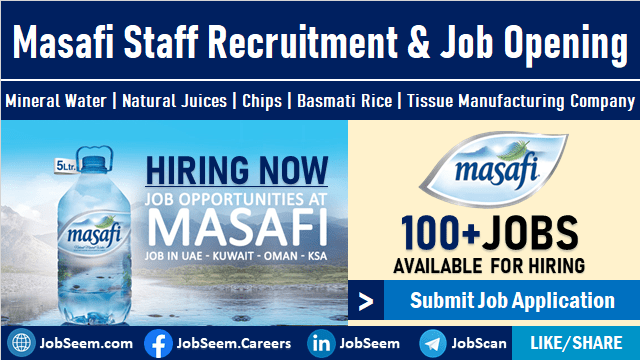 Masafi Careers and Staff Recruitment Mineral Water Company Jobs Opening in Dubai, UAE