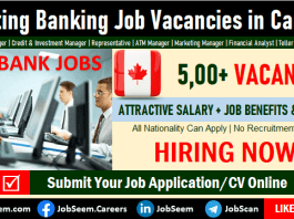 Banking Jobs in Canada, Retail Banking Careers and Vacancy Openings in Toronto