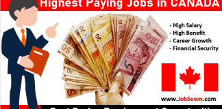 Highest Paying Jobs in Canada Best and Most Paid Vacancy Openings with Salaries